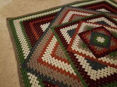 Crocheted Kaleidoscope Granny Square Tutorial - YouTube