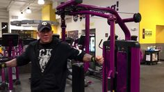 Planet Fitness Chest Fly Machine - How to use the chest fly and rear delt exercise machine - YouTube