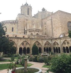 Cathedral Courtyard - Tarragona, Spain