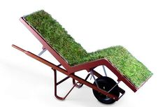 How would you like to sit on a grass chair, to feel the pleasure of lying on soft grass. Well, designer Deger Cengiz thought about that and created the Chaise Lawn Chair, a mix between an alive lounge chair, mobile planter and a human transporter.