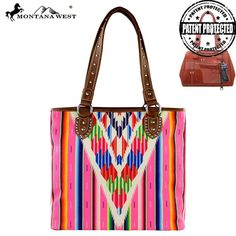 MW310G-8281 Montana West Serape Concealed Carry Handbag