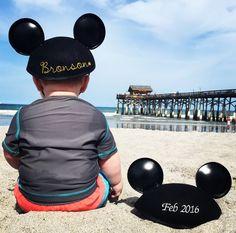Pregnancy announcement Disney/Beach vacation 2015 Big Brother! Disney world.