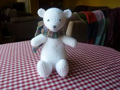 Arthur the Polar Bear free crochet pattern by Yellow, Pink and Sparkly