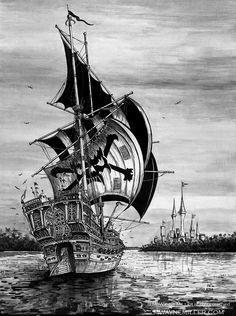 Pirate Ship by gjsx51.deviantart.com on @deviantART
