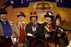 { Article: A Day at the Great Dickens Christmas Fair } Victorian carolers at the Great Dickens Christmas Fair in San Francisco, California