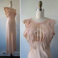 1930s slip | vintage 30's slip | vintage slip | lace and silk slip | vintage lingerie | 130s lingerie | Art Deco | The Sweet Whisper Slip by VivianVintage8 on Etsy