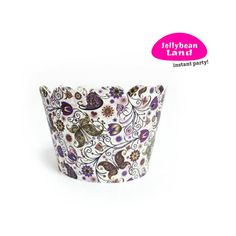 "Cupcake Wrapper ""Purple Spring"" 15pcs."