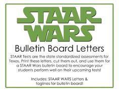 This Little Teacher: STAAR Wars Bulletin Board Designs - Texas Standardized Testing