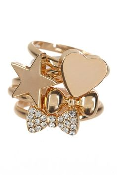Gold Stackable Ring Set by t+j Designs on @HauteLook
