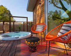 Modern Deck | Outdoor Patio | Acapulco Chair | Mid-Century Modern | Furniture Design | Home Decor