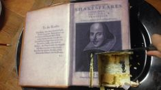 Yes it's a #FirstFolio cake at @Bell Shakespeare. Thanks @Sweet Art Australia! #cakespeare