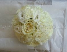 Ruffley whites Bouquet, by Lily King Weddings