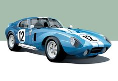 These Awesome Prints Of Historic Racing Cars Would Look Great In Your Place – Sport is lifre Classic Motors, Classic Cars, Vintage Racing, Vintage Cars, Shelby Daytona, Automobile, Best Muscle Cars, Car Illustration, Car Drawings