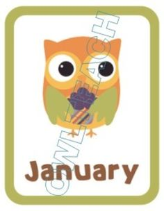 This is colorful, ready to use file including 12 different Owl Birthday Posters--one for each month of the year.  These can be posted in your classroom as heading labels, with students names and birth dates hung underneath!  These are super-cute and completely ready for classroom use!
