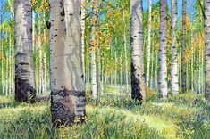 """Since it's September, I thought I would post some of my Colorado Aspen paintings. This is """"Colorado Autumn"""". It's available and currently…"""