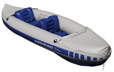 Airhead Roatan Inflatable Kayak 2 Person - The Airhead Roatan 2 Person Inflatable Kayak is a great choice for your on-the-water adventures! The extremely portable inflatable design allows you to easily pack up your kayak and stow it in the trunk or your car, a duffel bag or a suitcase. The Roatan features two removable inflatable seats, two oversized valves for quick inflating and deflating, and spray covers. This kayak is ideal for lakes to moderate white water. Designed for lakes and…