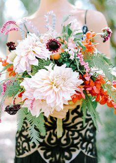 ivory dahlia florals  | 100 Layer Cake