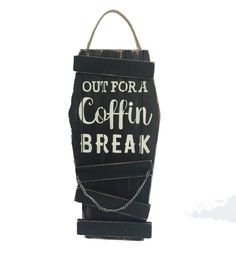 Maker's Halloween Wood Wall Decor-Out for A Coffin Break