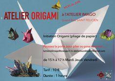 Initiation Origami https://tourdebabelatelier.wordpress.com et Atelier Imago