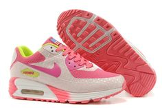 Air Max 90 Hyperfuse Premium Women's Shoe Grey / Pink