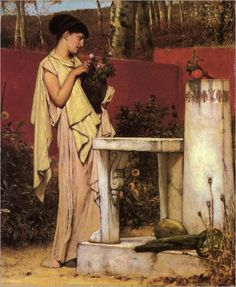 Learn more about The Last Roses Sir Lawrence Alma-Tadema - oil artwork, painted by one of the most celebrated masters in the history of art. Lawrence Alma Tadema, John William Godward, William Waterhouse, Claude Monet, Roman Art, Dutch Painters, Pre Raphaelite, Dutch Artists, People