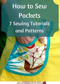 How to Sew Pockets: 7 Sewing Tutorials and Patterns | New to sewing? Then this easy tutorial for how to sew pockets is a total must-read!