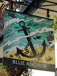 Blue Anchor - Pub Sign by Luke Agbaimoni (last rounds), via Flickr