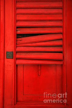 Red Shutter photography by Timothy Johnson. Red Shutters, Colors Of Fire, I See Red, Shutter Photography, Red Photography, Simply Red, Foto Art, Red Aesthetic, Shades Of Red