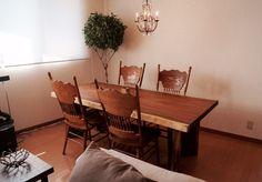 きくら モンキーポッド一枚板ダイニングテーブル http://kikura.jimdo.com/納品事例/