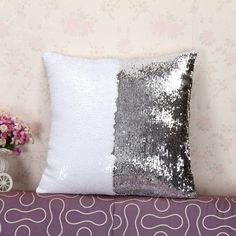 Mermaid Decorative Pillow Cover With Two Tone Sequins – Big Star Trading Store