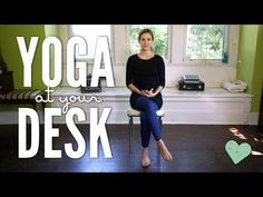 SNEAK IN SOME YOGA! Because you are worth it - and we know the tools of YOGA are powerful and sometimes quite simple. Yoga at your desk is perfect for anybody who spends a lot of time at a desk Desk Yoga, Chair Yoga, Reebok Crossfit, Vinyasa Yoga, Yoga Sequences, Yoga Poses, Reiki, Power Clean, Body Builder