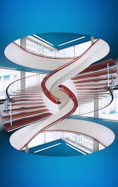 how cool! Intertwined staircase