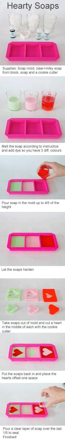 DIY Hearty Soaps tutorial