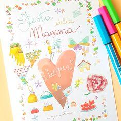 Biglietto gratis per la Festa della Mamma  da stampare a casa - Mother's day card Free printable