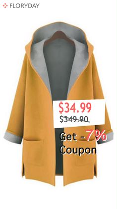 Shop Floryday for affordable Coats. Floryday offers latest ladies' Coats collections to fit every occasion. Floryday Dresses, Fashion Dresses, Dresses For Work, Shirt Diy, Mode Mantel, Sewing Courses, Langer Mantel, Coat Sale, Clothing Hacks