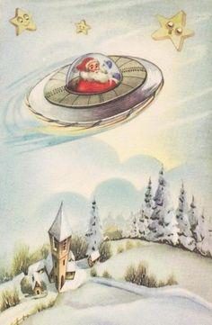 Space Santa!  This is so cute!