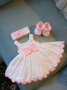 White crochet baby dress set wBest 11 Image gallery – Page 307863324526319619 – ArtofitBeautiful dress for girls crochetedRaefa Tamish's media content and analyticsBubble stitch beanie hat knitting pattern by studio knit – SkillOfKing. Crochet Baby Dress Pattern, Baby Dress Patterns, Crochet Bebe, Baby Girl Crochet, Knit Crochet, Crochet Patterns, Crochet For Kids, Crochet Doll Clothes, Baby Sweaters