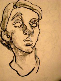Self Portrait- Blind Contour by ~extraordinary-please on deviantART