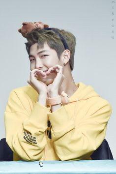 Rap Monster ❤ BTS at the Incheon Fansign #BTS #방탄소년단