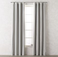 RH TEEN's Linen-Cotton Drapery Panel:Our smartly tailored panel pairs the relaxed texture of linen with the light control and privacy of our premium blackout lining. Blended with a generous complement of cotton, the fabric has a touch of weight, a graceful drape and superb longevity.