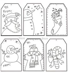 Printable Christmas Tags - great idea for kids to help!