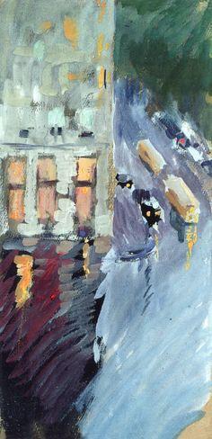 Corner of 59th Street, New York (Joaquin Sorolla y Bastida 1911