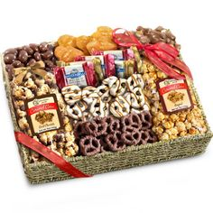 Love this Chocolate, Caramel and Crunch Grand Gift Basket :) Great girlfriend gift idea! (You had me at Chocolate!)
