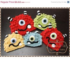 Monster Hat Crochet by EmieGraceCreations on Etsy