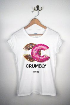 CHANEL doughnuts crumbly shirt by DressedToThrillShop etsy.com/shop/dressedtothrillshop