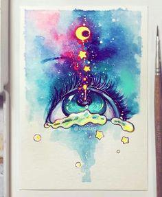 67 Super Ideas For Trippy Art Psychedelic Watercolor Kunst Inspo, Art Inspo, Art And Illustration, Fantasy Kunst, Fantasy Art, Anime Kunst, Anime Art, Yuumei Art, Art Sketches