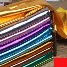 Stretch Shiny Gold Foil bronzing Spandex Fabric Material PU glossy leather fabric for DIY stage cosplay costume Dress Brocade Fabric, Leather Fabric, Lace Fabric, Costume Dress, Cosplay Costumes, Fashion Drawing Dresses, Weave Styles, Throw Cushions, Bridal Lace