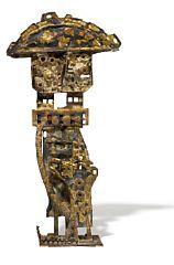"""Robert Jacobsen: """"General"""". Stamped RJ. Gilded iron. H. 57 cm.  Robert Jacobsen, b. Copenhagen 1912, d. Egtved 1993"""