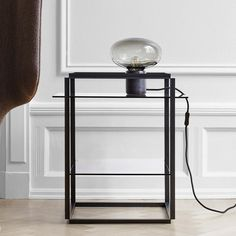 Florence Side Table & Karl - Johan Table Lamp from Design Online Shop, Stainless Steel Screen, Casa Cook, Black Table Lamps, New Words, Lamp Bases, Counter Stools, Minimalist Design, It Works