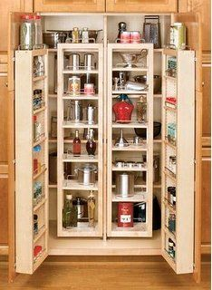 """Rev-A-Shelf 4WDP18-57 57"""" Pantry Door Unit (with Hardware) Single - Wood - Maple"""